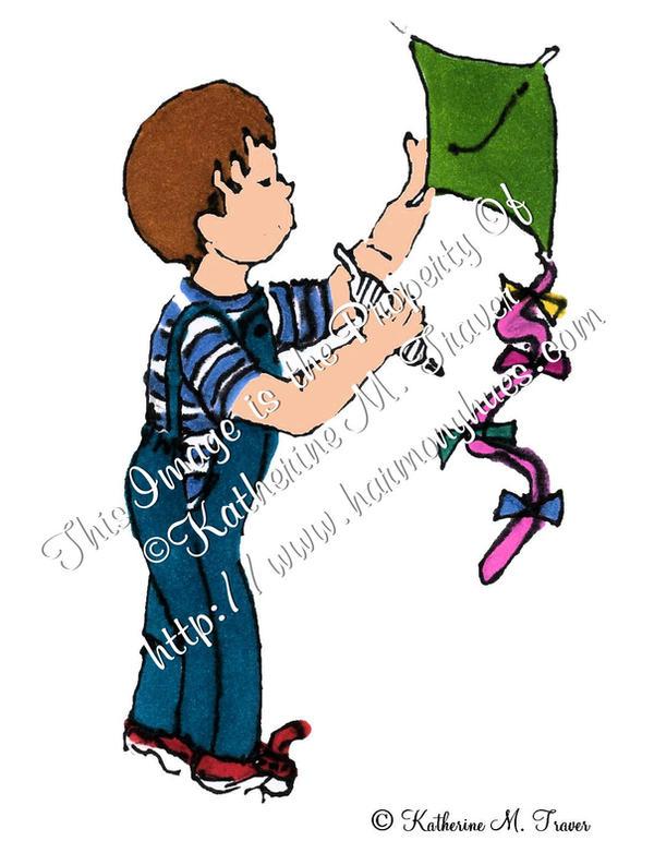 Little Boy With Kite by Katrina1944