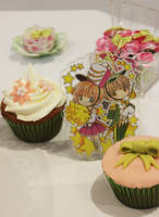 SxS Birthday Cake and Cupcakes