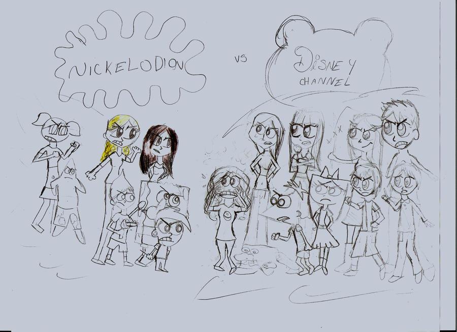 Nick vs. Disney Channel by newyorkbaby