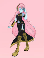 Megurine Luka Commission by C0SDR0P