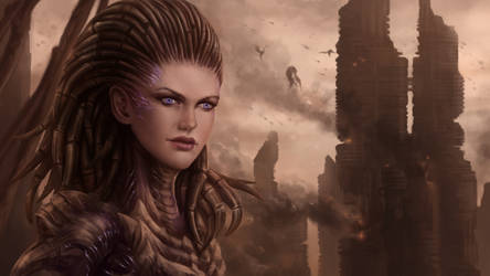 Sarah Kerrigan- The Queen of Blades by Gengar1991