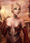 World of Warcraft Fan Art - Blood elf mage