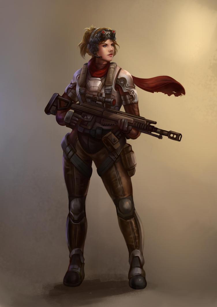 Alyson Jones the mercenary pilot by Gengar1991