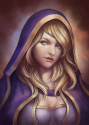 Jaina Proudmoore Color by Gengar1991