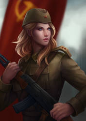 Red army girl by Gengar1991