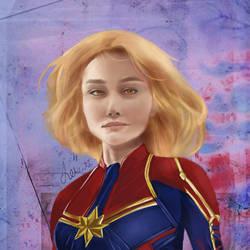 Captain Marvel by lexowski