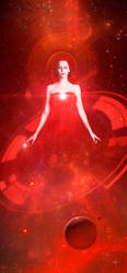The red sorceress emerges victorious