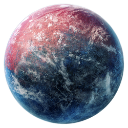 Red and blue planet stock
