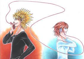 HirumaxMamori : Love Bond by Nekokoro-chan