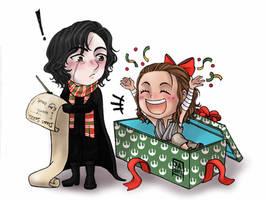 Star Wars Merry Christmas Reylo by Nekokoro-chan