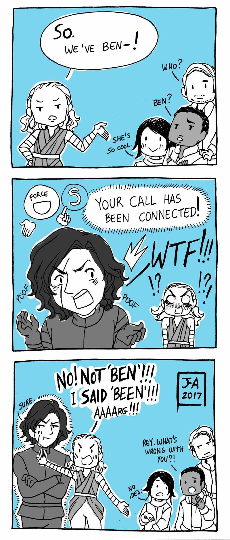 Star Wars Tlj Reylo Comic Force Bond 1 By Nekokoro