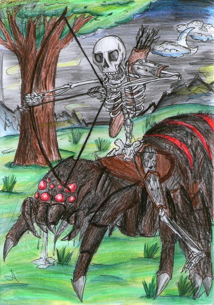 Spider jockey by Arraca on DeviantArt