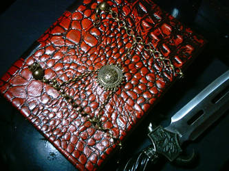 Red Dragon Leather Book by Ars-Antiqua