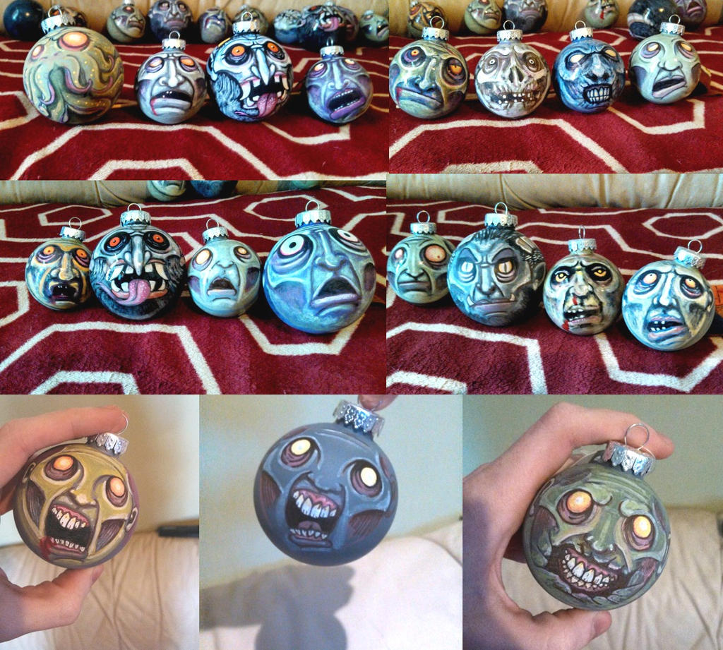Monster and zombie Christmas Ornaments by asconch on DeviantArt