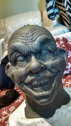 Creepy Clown Sculpture WIP by asconch