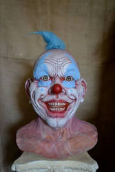 Creepy Clown Sculpture Finished
