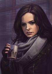 Jessica Jones Portrait by skorpi