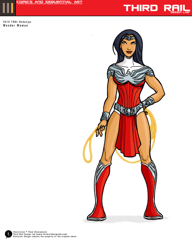 TRDL: Wonder Woman Redesign by TRDLcomics