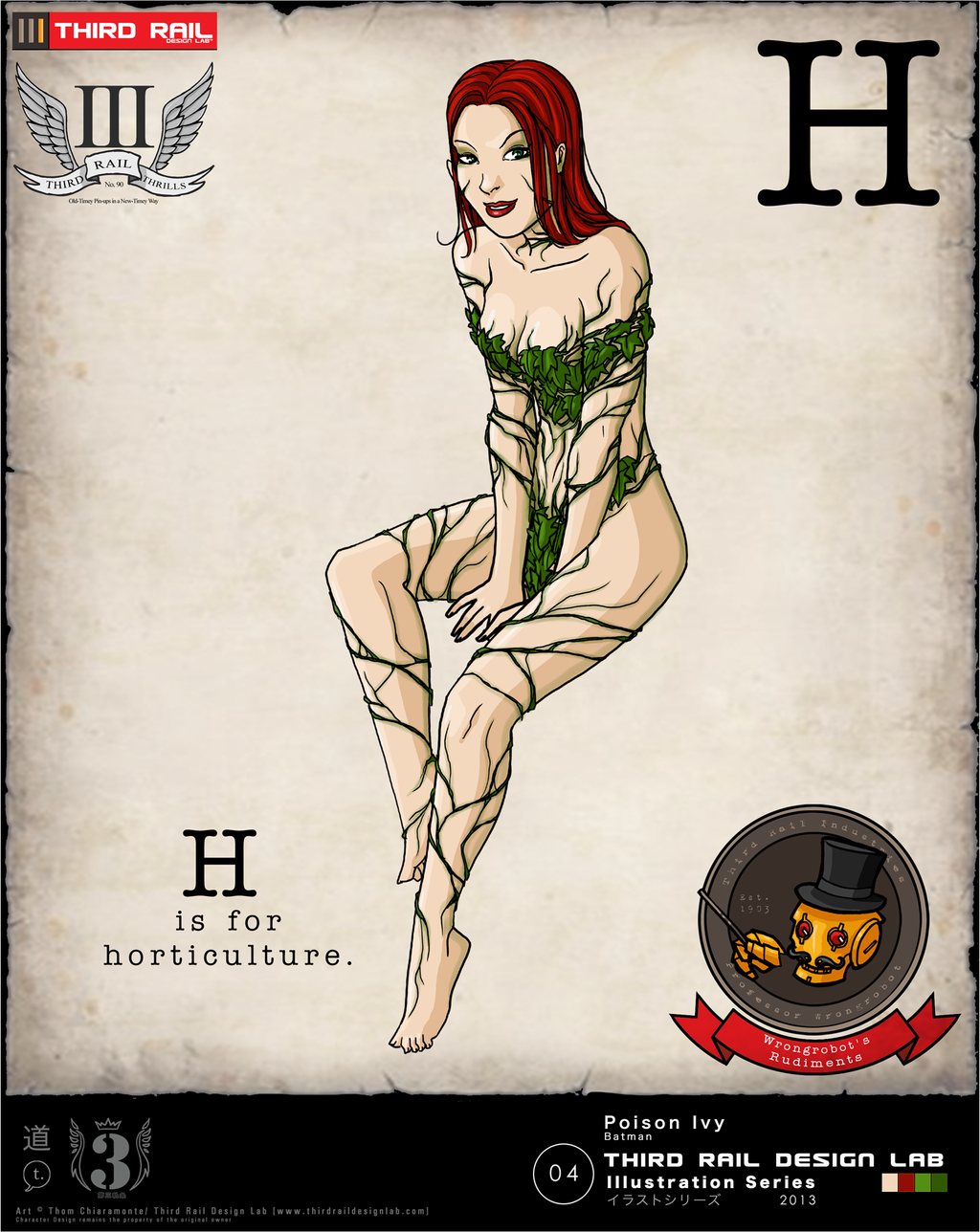 TRDL 2013 Series No. 4 - Poison Ivy by TRDLcomics