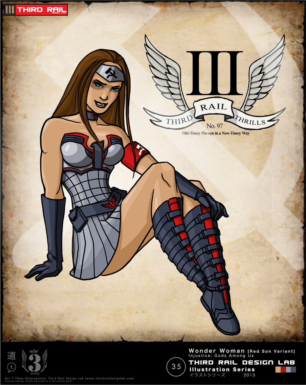 Injustice Art Contest Wonder Woman Red Son by TRDLcomicsRed Son Wonder Woman Injustice