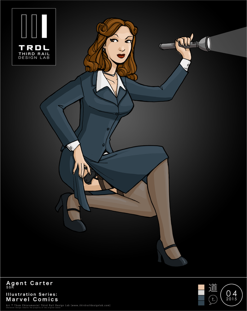 TRDL 2015 Series No. 4 - Agent Peggy Carter by TRDLcomics