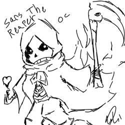 sans the reaper my oc hope ya like it by 0saArt