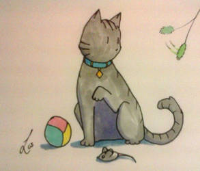 Inktober 2017-10: Kitten by Laet-lyre