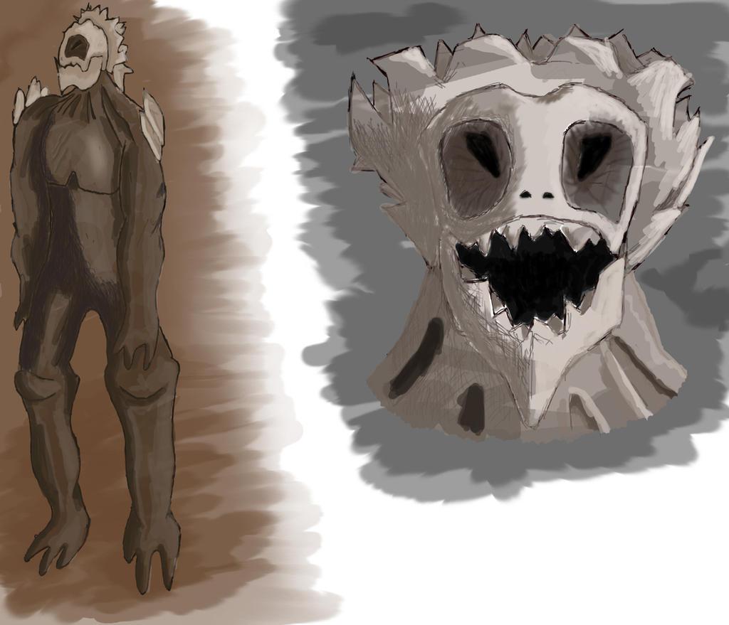Bipedal Beast Concept by Mondai-Guujin-chan