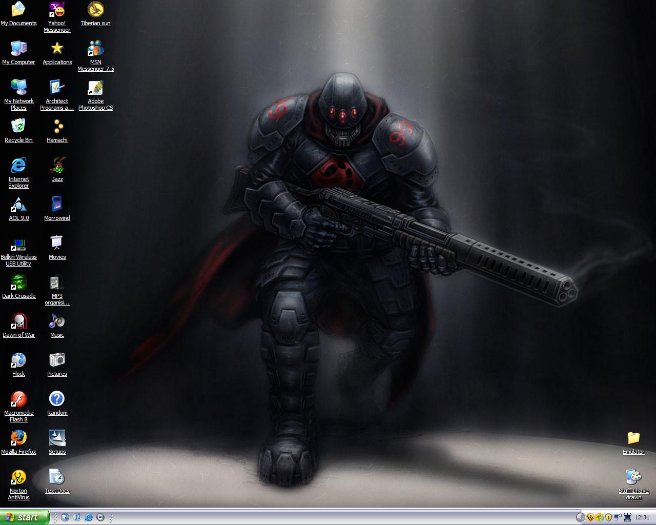 My desktop by Mondai-Guujin-chan