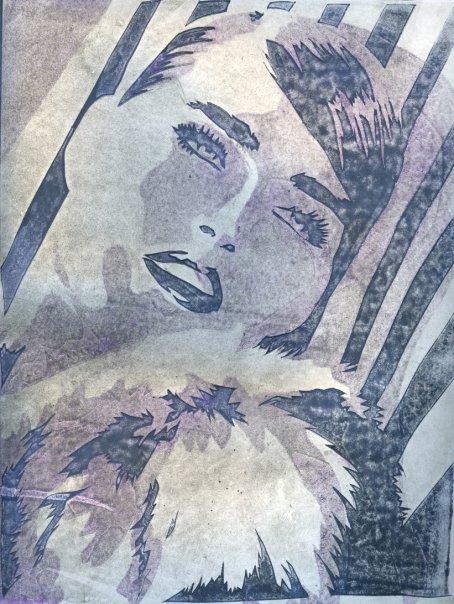 Blue Girl Print by adamtheimpaler