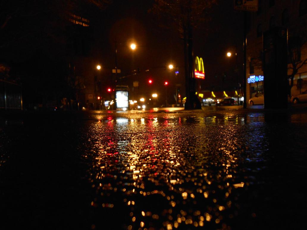 Rainy City Night Shot by cdooginz on DeviantArt