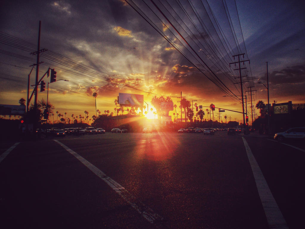 LA Sunset Street Shot Version 3 by cdooginz