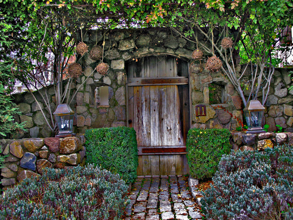 Arch Top Garden door,10 years by ou8nrtist2