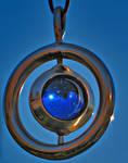 Blue Marble Swivel Pendant