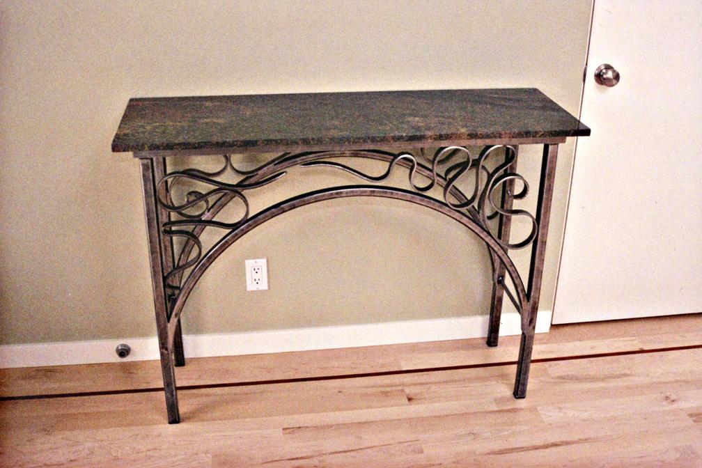 ArtNouveau Style Console Table by ou8nrtist2