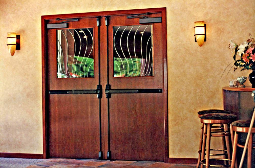 Restaurant Kitchen Entry Door
