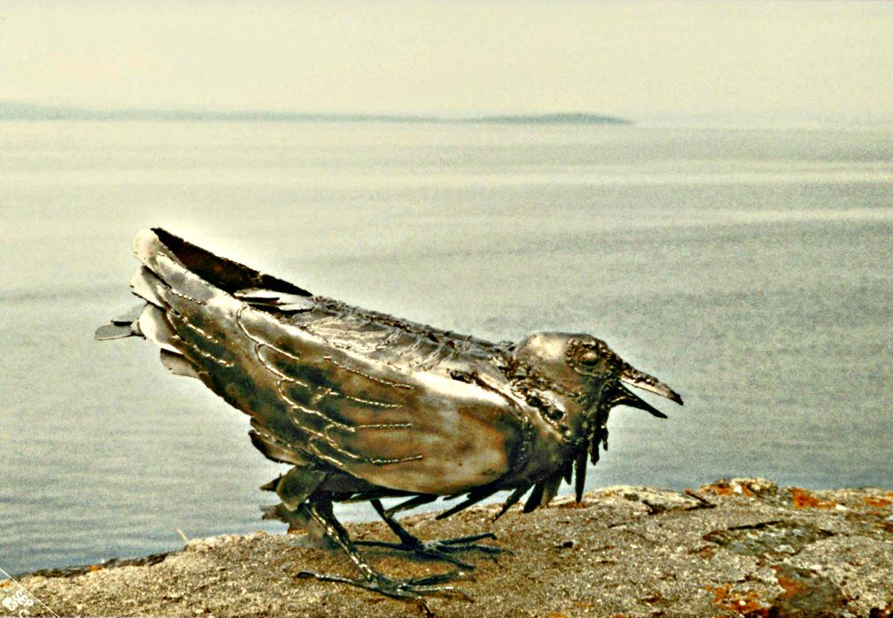 Raven Sculpture by ou8nrtist2