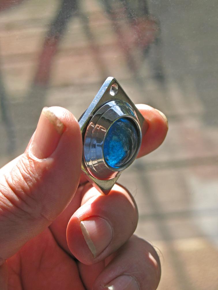 Blue Bead Dowsing Pendulum by ou8nrtist2