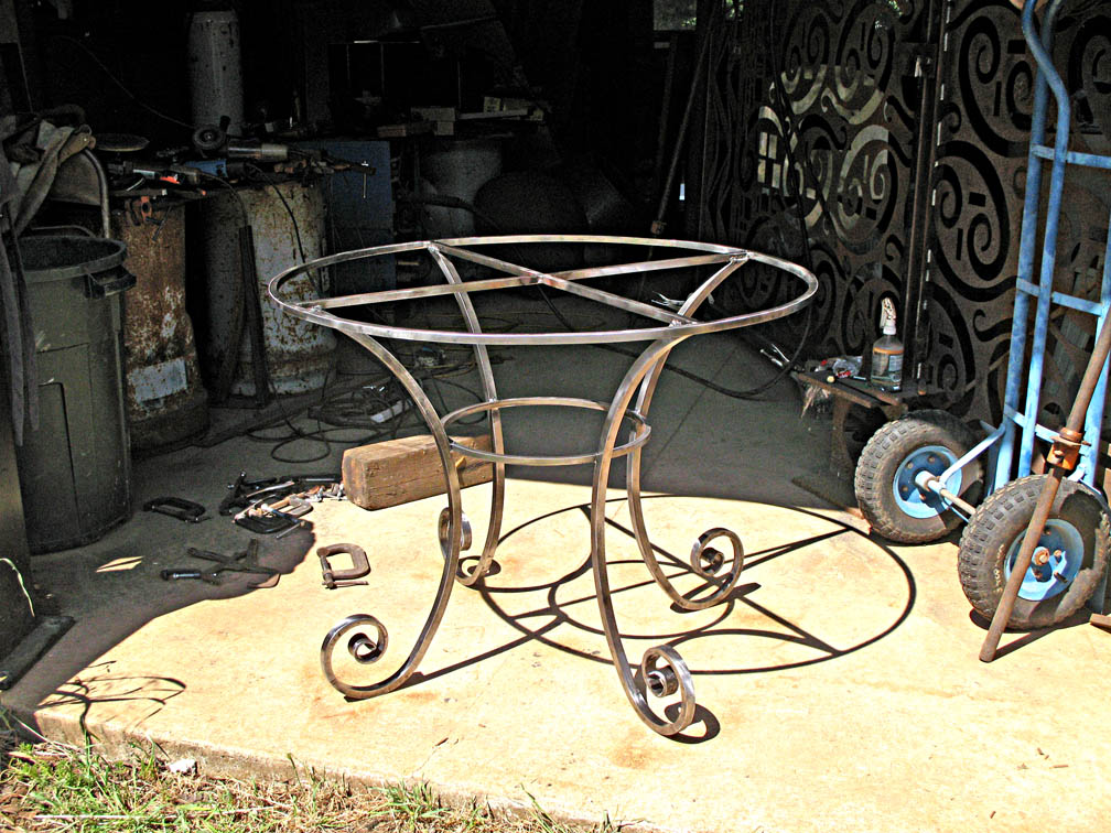 Forged Circular Table Base by ou8nrtist2