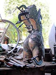 Bronze Figure in process by ou8nrtist2