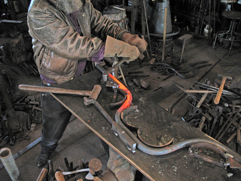 Forging Table Legs with Jig by ou8nrtist2