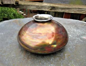Squat Ikebana Vase