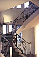 Spiral Staircase Railing by ou8nrtist2