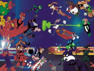 Battle Royale - Marvel vs. DC by StephenBergstrom