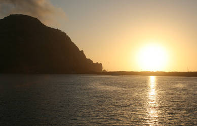 Sunset at Morro Rock by LAWritersLab