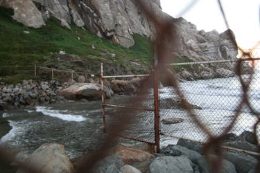 Fenced Off Beach by LAWritersLab