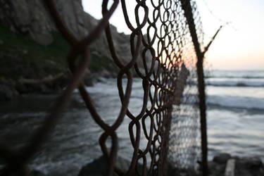 Fenced Off Beach #2 by LAWritersLab