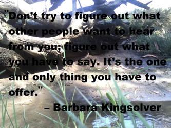 Barbara Kingsolver Quote by LAWritersLab