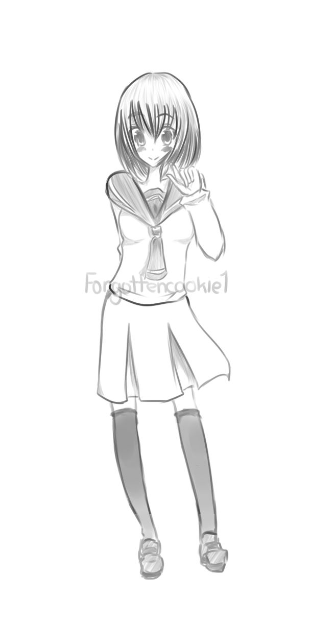 Full Body Sketch By Forgottencookie1 On DeviantArt