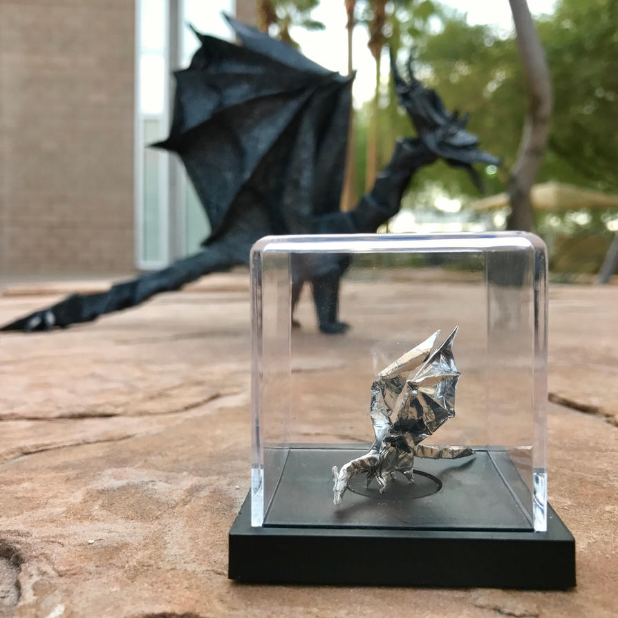 Origami Simple Dragon by OrigamibyBoice